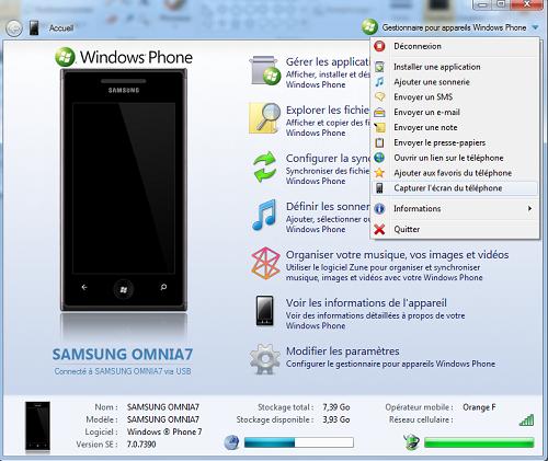 [ASTUCE NODO] Faire une capture d'écran de nos WindowsPhone7 3310
