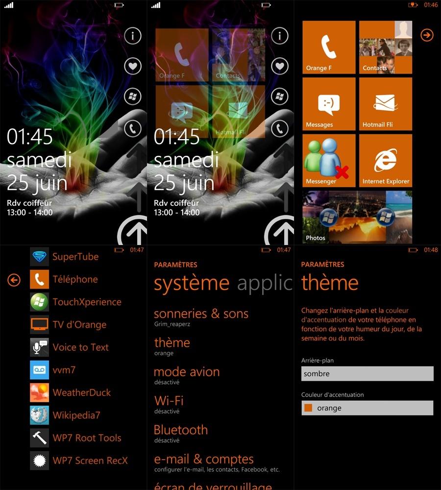 [ASTUCE] Changer les couleurs du fond d'écran et des textes sur votre WP7 Astuce10
