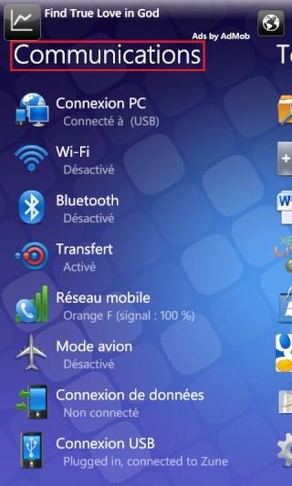 [ASTUCE NODO] Faire une capture d'écran de nos WindowsPhone7 Captur20