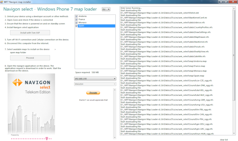[TUTO] Navigon WP7 : Utiliser vos maps iphone pour Navigon sur Windows Phone Maploa10