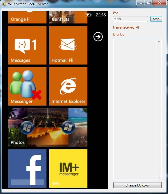 [ASTUCE NODO] Afficher  en temps réel l'écran de votre WP7 sur votre PC Remote12