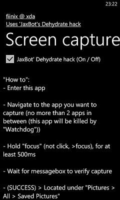 [ASTUCE NODO] Faire une capture d'écran de nos WindowsPhone7 Screen10