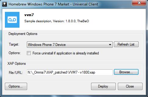 [ASTUCE] Mettre à jour une application .XAP déjà installée sur votre WP7 Tuto-m11