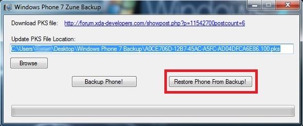 [TUTO] Windows Phone 7 Backup : Créer un backup de votre WP7 à tout moment Window10
