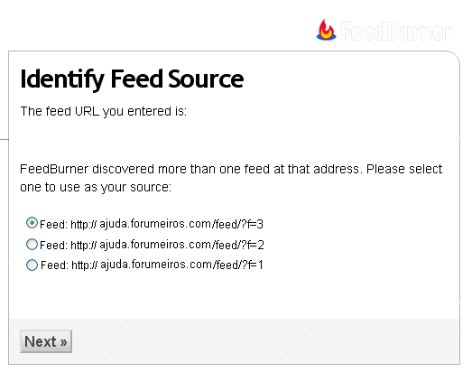 Sistema de FeedBurner Fdf10