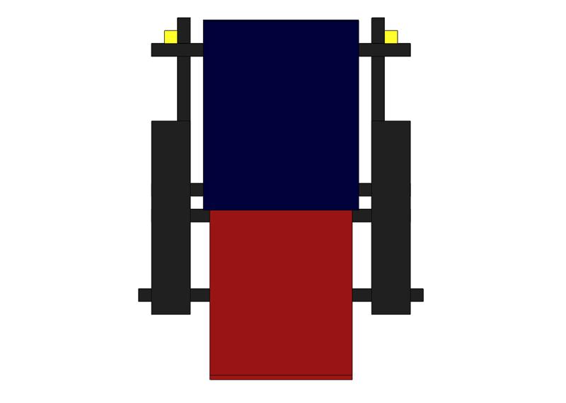 La chaise rouge et bleue de Rietveld Sans_t27