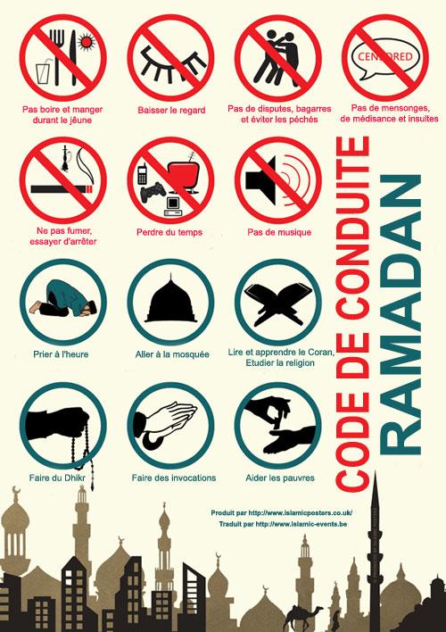 code de conduite pendant le ramadan Poster10
