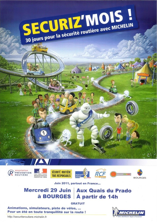 """Michelin : """"Sécuriz'Mois"""" à Bourges [29/06/2011] Affich16"""