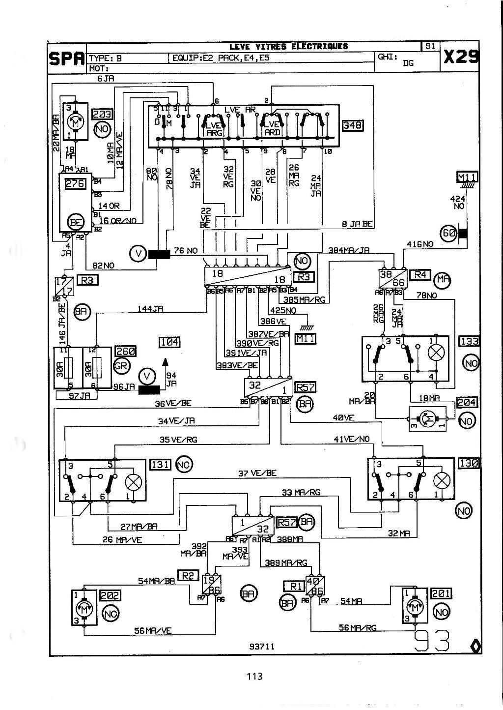 Vitres électriques arrière lentes (même bien graissées) 93-3fa10