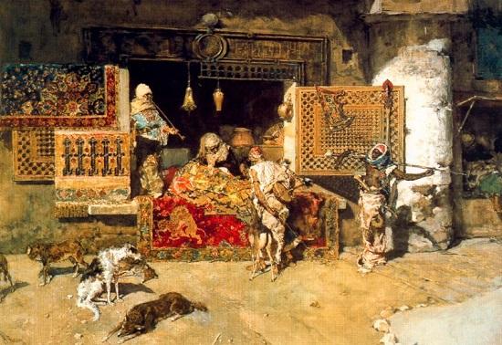 El vendedor de tapices--Mariano Fortuny El_ven10