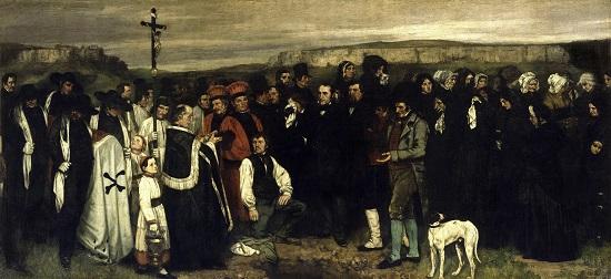 Entierro en Ornans--Courbet Gustav10
