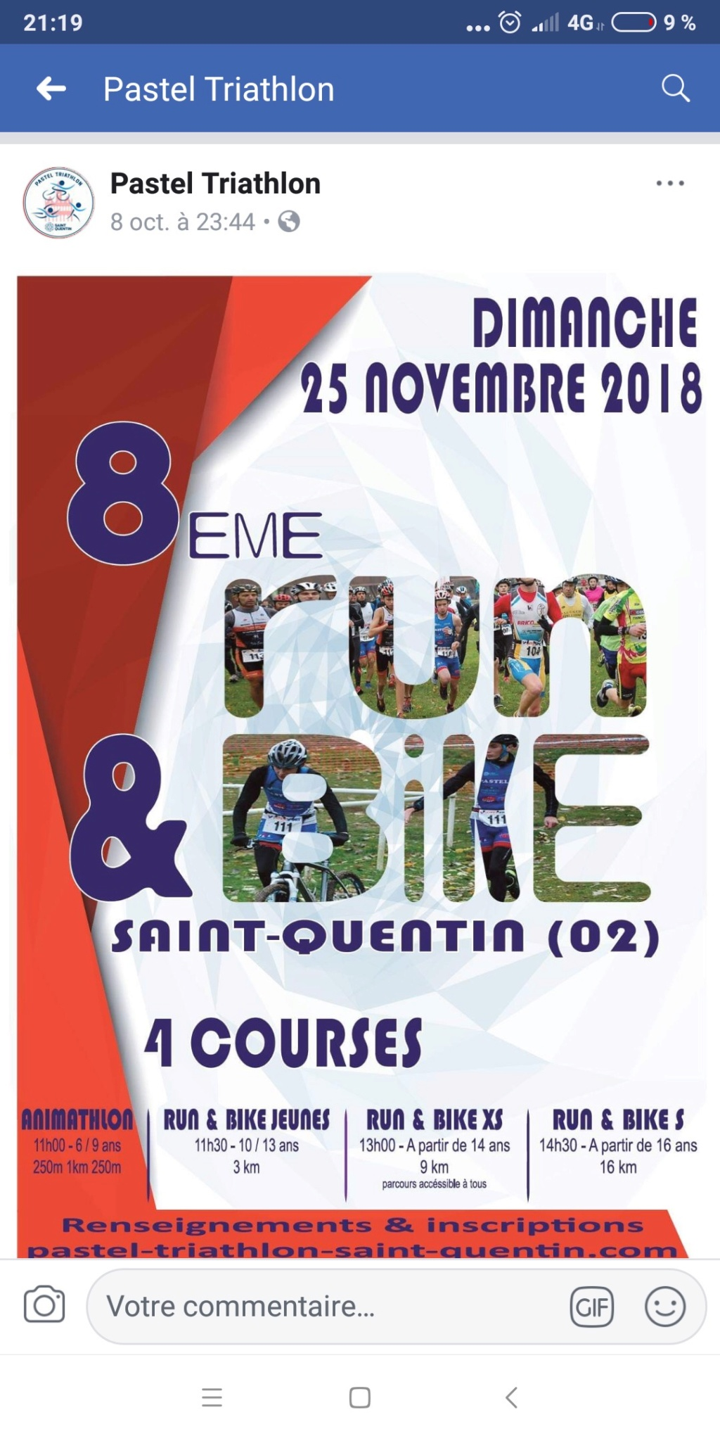 Run & bike StQuentin 25/11/2018 D7df4e10