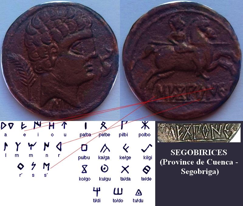Unité de bronze au cavalier ou as. Segobi10