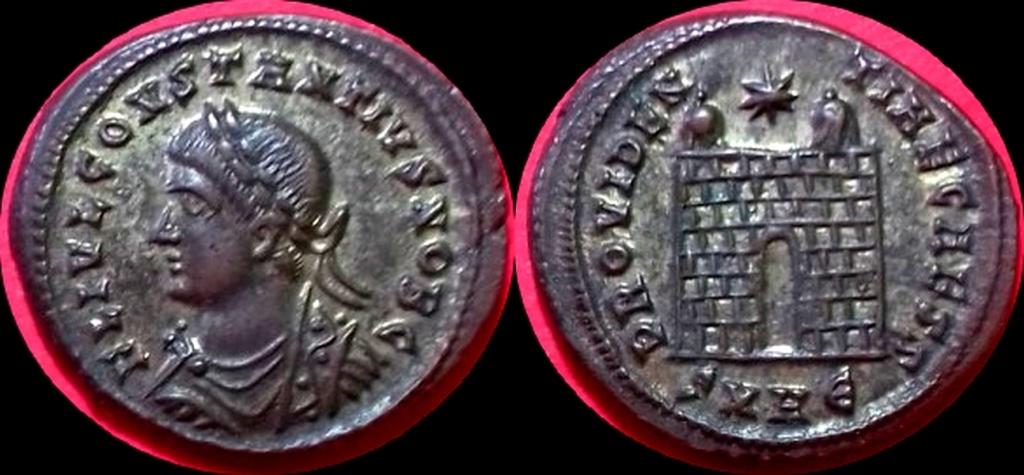 Follis - Constance II - PROVIDENTIAE CAESS à deux tourelles  Thumbn10