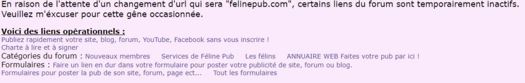 Anciens codes HTML : liens affichés en haut du forum Codes-10