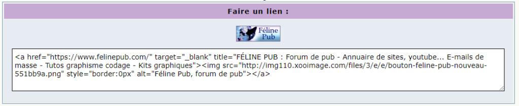 Tag html sur ©Féline Pub | Forum de pub, codage, graphisme, annuaire web  Faireu11