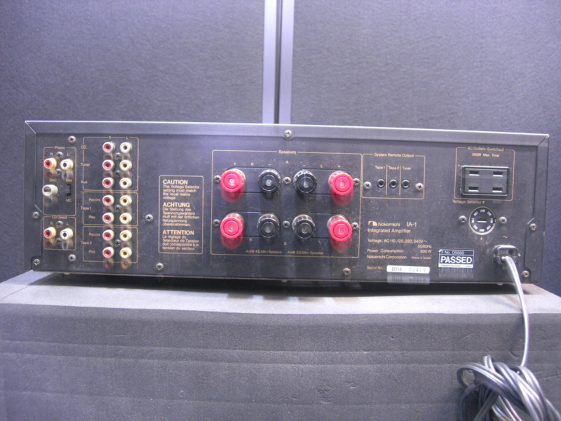 Nakamichi IA-1 integrated amplifier(sold) Dscn2826