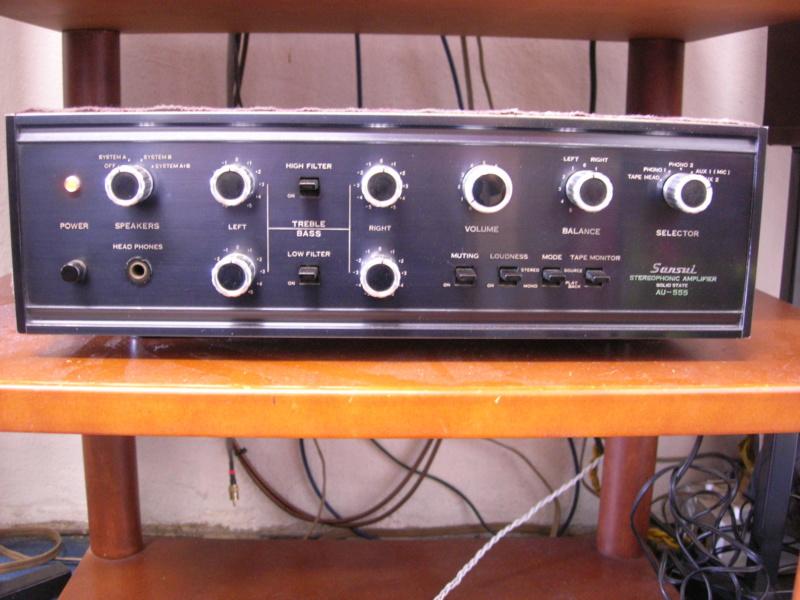 Sansui AU-555 integrated amplifier Dscn3122