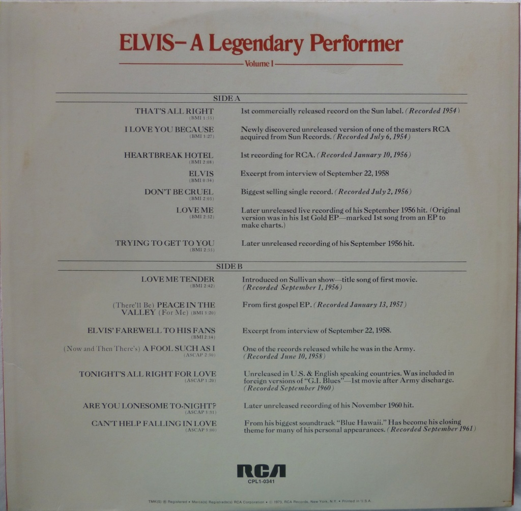 A LEGENDARY PERFORMER VOLUME 1 1e10