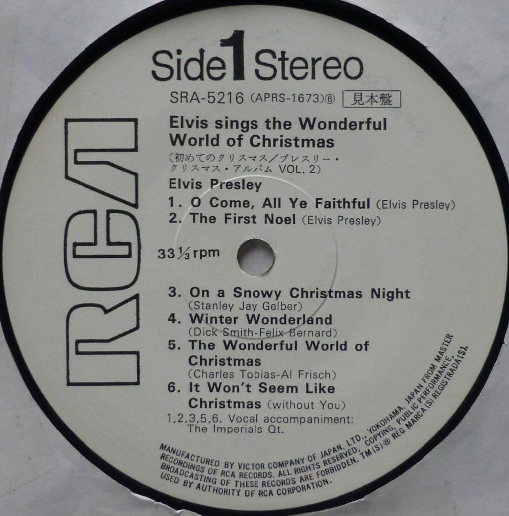 ELVIS SINGS THE WONDERFUL WORLD OF CHRISTMAS VOL.2 1g12