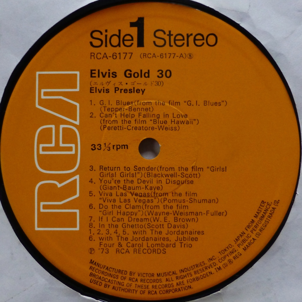 ELVIS GOLD 30 1w10