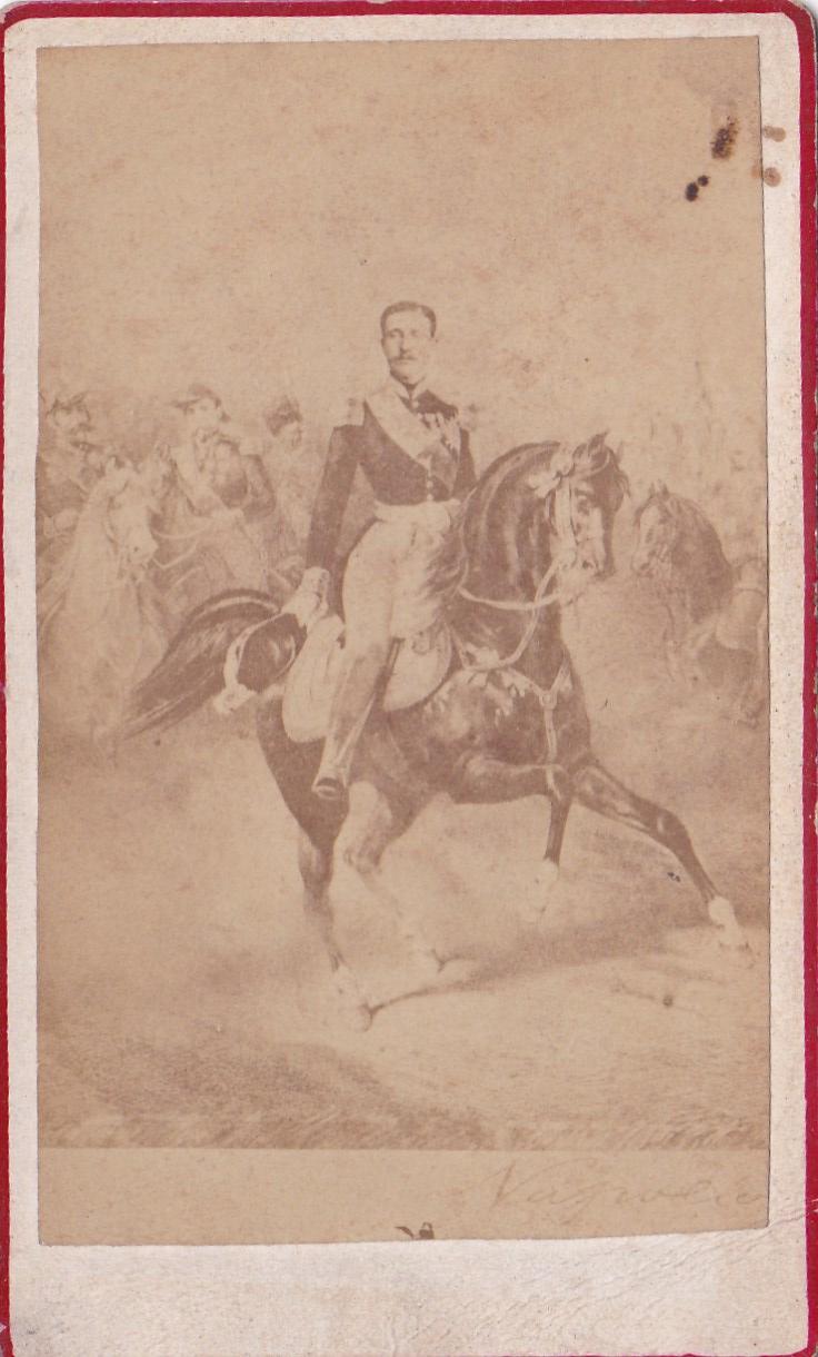 Photo ancienne cavalerie avec dessin d'un portrait a l'arrière Img_2308