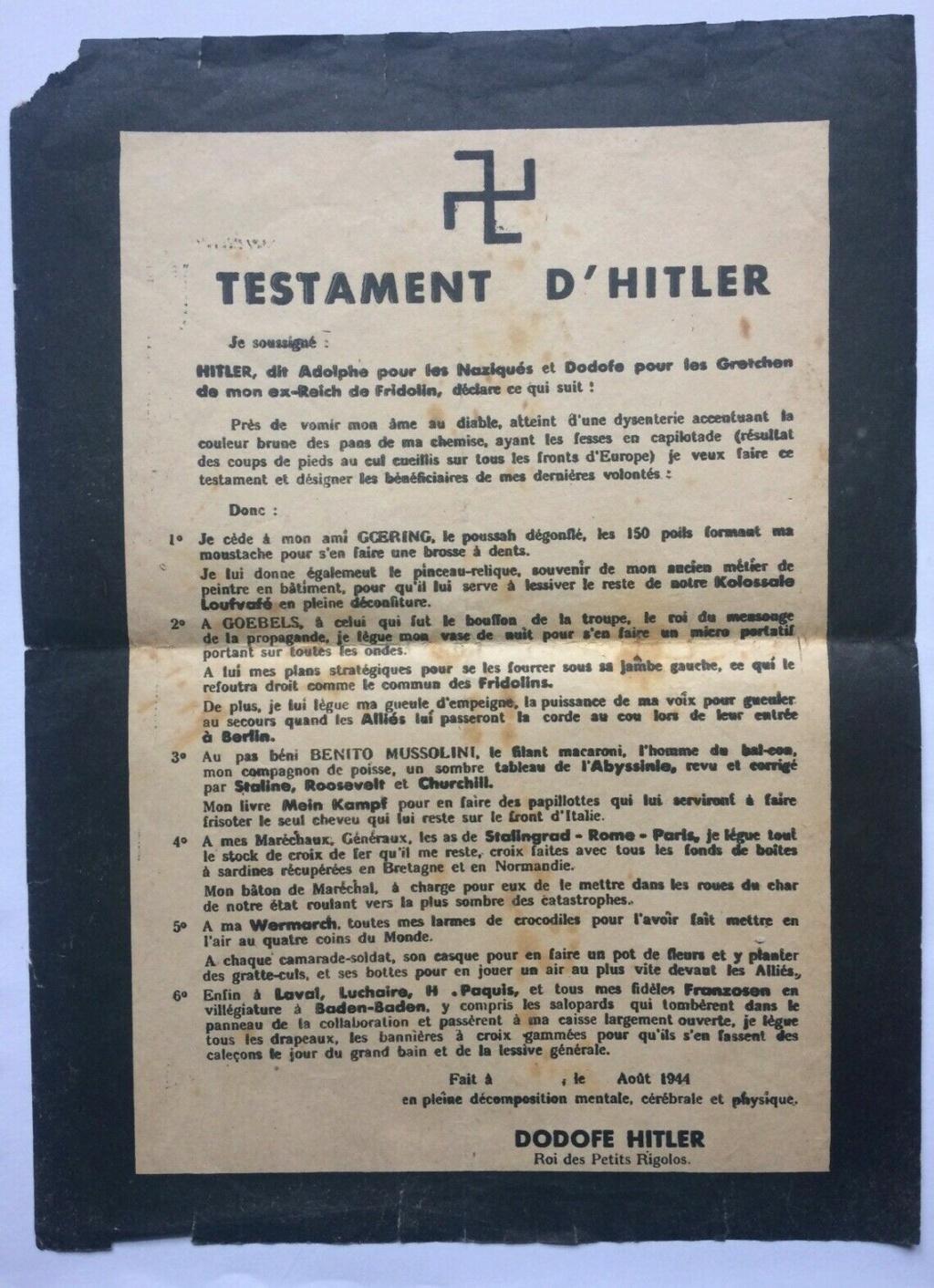 Tract de résistant (testament hitler) S-l16141