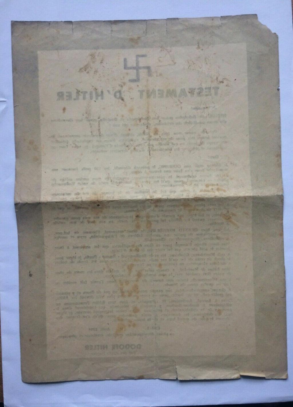Tract de résistant (testament hitler) S-l16142