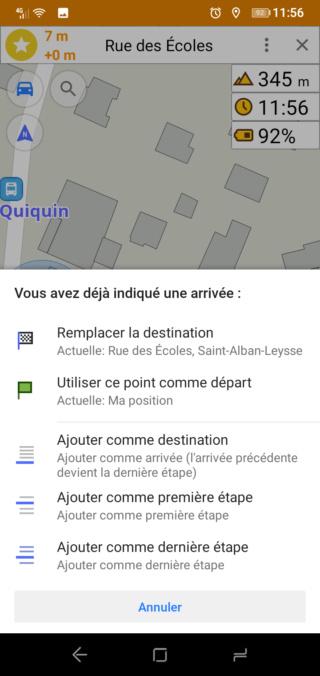 """[Tuto Osmand] Programmer un Itinéraire """"routè"""" avec des étapes 1211"""