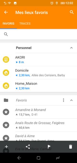 """[Tuto Osmand] Programmer un Itinéraire """"routè"""" avec des étapes 311"""