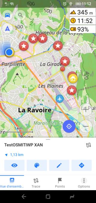 """[Tuto Osmand] Programmer un Itinéraire """"routè"""" avec des étapes 511"""