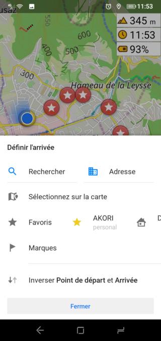 """[Tuto Osmand] Programmer un Itinéraire """"routè"""" avec des étapes 711"""