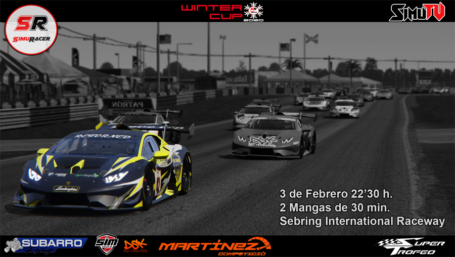 WINTER CUPS 2020 - SEGUNDO EVENTO - SUPER TROFEO - SEBRING - 3 FEBRERO Carrer15