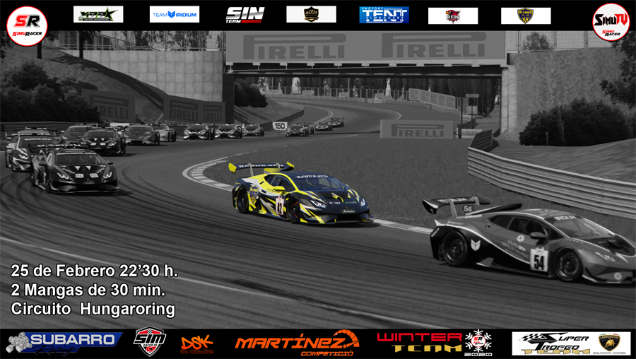 WINTER TEAM 2020 - CARRERA 4 - LAMBORGHINI ST TEAM - HUNGARORING - 25 FEBRERO Carrer18
