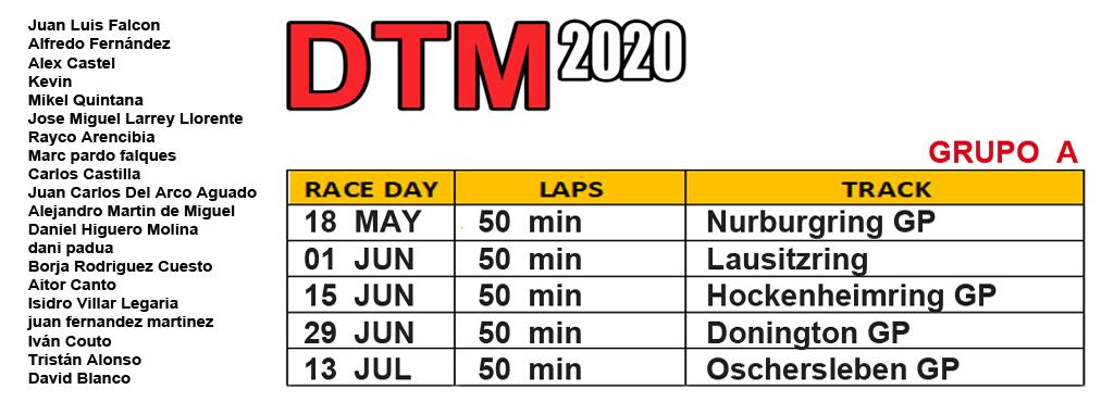 DTM 2020 - CARRERA 1 Grupoa10