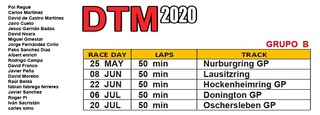 DTM 2020 - CARRERA 1 Grupob10