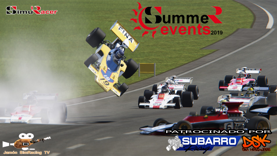 SUMMER EVENTS 2019 - PRIMER EVENTO - LOTUS 72 D - KYALAMI 8 JULIO Summer14