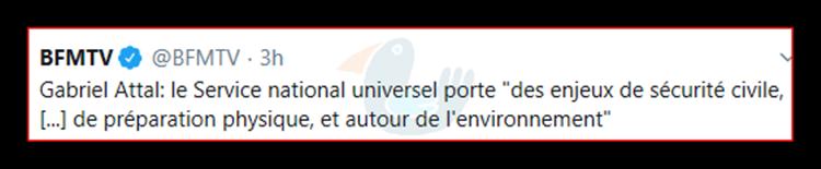 Le service national universel à la sauce Macron, une gabegie en perspective. Bfmtv110