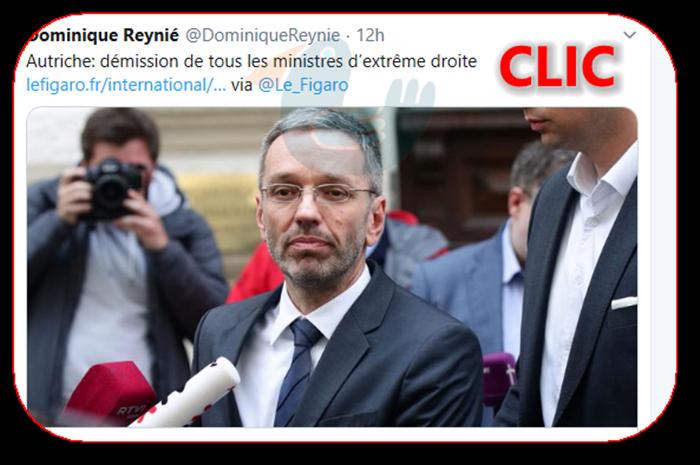 Autriche: démission de tous les ministres d'extrême droite Dreyni10