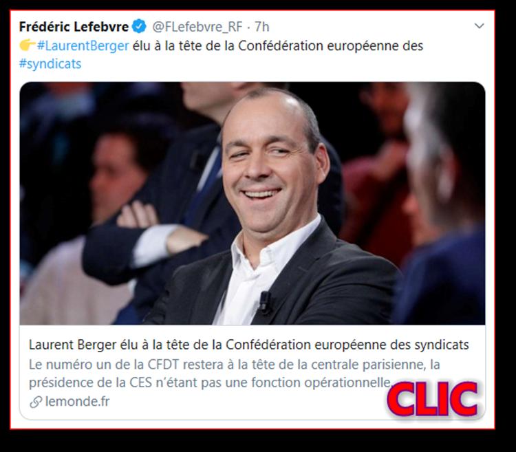 Laurent Berger élu à la tête de la Confédération européenne des syndicats Flefeb10