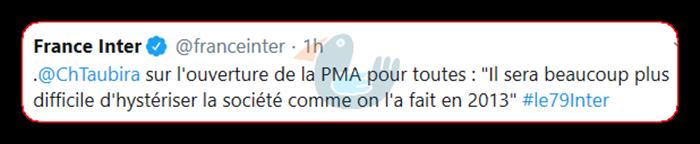 ChTaubira  sur l'ouverture de la PMA pour toutes France14