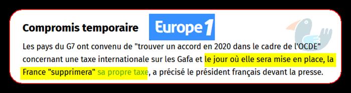 G7 et taxe sur les GAFA  Gafaoc10