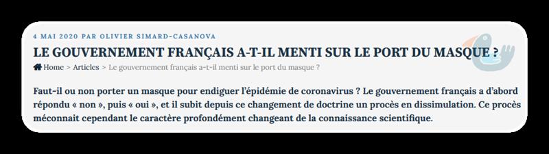 Le gouvernement français a-t-il menti sur le port du masque ? Legvt_10