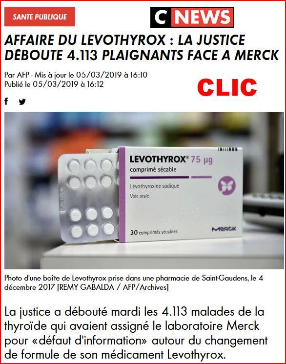 Affaire du Levothyrox : la justice déboute 4.113 plaignants face à Merck Levoth10