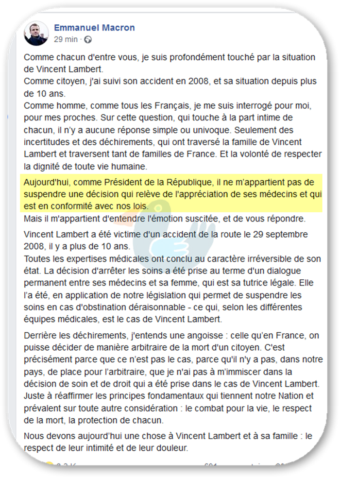 Doit-on tuer Vincent Lambert ?  Macron10