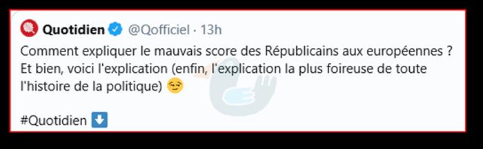 Pourquoi le mauvais score des Républicains aux européennes ? Quotid10