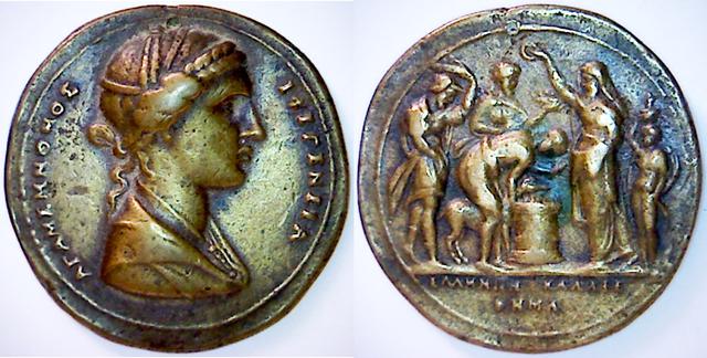 Identification médaille grecque Double10