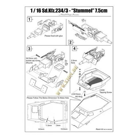 Puma Sd.Kfz. 234/2 Metal Origin 1:16 WIP Stumme10