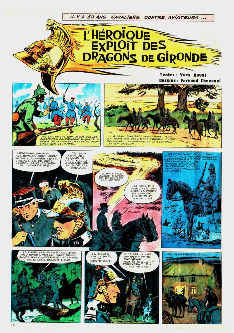 L'héroïque exploit des dragons de Gironde * dans la nuit du  10 septembre 1914  (* Gironde est le nom du lieutenant Gironde) Dragon10