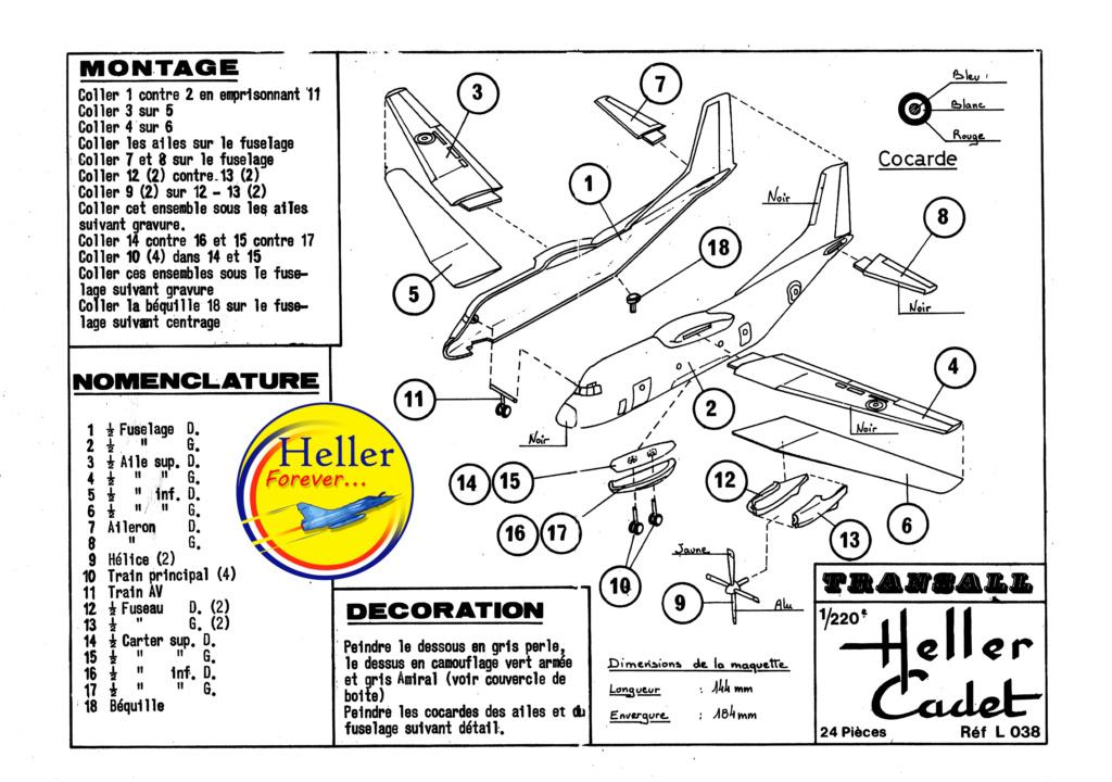C 160 TRANSALL 1/220ème Réf CADET L 038 Notice Plan_t11